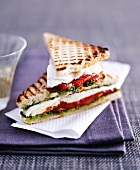 Tomato and mozzarella sandwiches