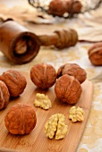 Whole Walnuts with Nut Crackers