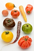 Colourful tomatoes and carrots