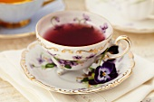 Cup of Pomegranate Blueberry Infused Tea