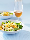 Couscous salad with chicken and oranges