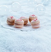 Raspberry and fig macaroons for Christmas