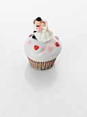 A wedding cupcake