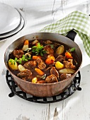 Lamb ragout with vegetables
