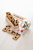 Domino biscuits and dice