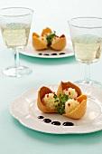 Stuffed pasta shells with mashed potatoes