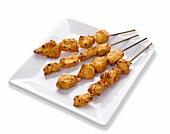 Spicy piri-piri chicken kebabs