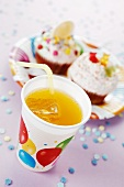 Orangeade and cupcakes