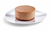 Mini Pumpkin Cheesecake on a White Plate; White Background