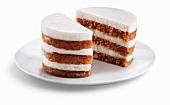 Mini Layered Carrot Cake; Cut in Half