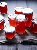 Jars of quince jelly