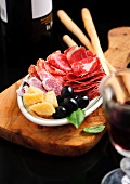 Antipasto misto (platter of mixed starters, Italy)