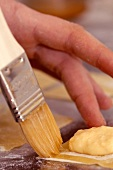 Tortellini being made