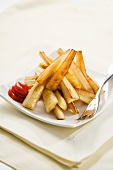 Yucca Fries with Ketchup