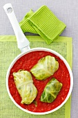 Cabbage roulade in tomato sauce