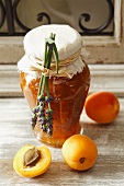 Apricot jam with lavender