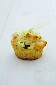 Courgette muffin as a gift