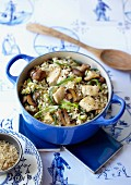 Chicken and brown basmati pilaf