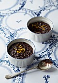 Ginger and orange black rice pudding