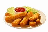 Fish Sticks with Cocktail Sauce