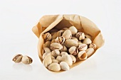 Pistachios in a paper bag