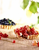 Mini Gooseberry and Blueberry Tarts