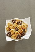 Gingerbread waffles with chocolate