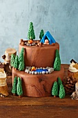 Fun Camping Themed Cake