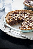 Pecan Pie with a Slice Removed