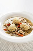 Bowl of Chicken and Dumpling Soup