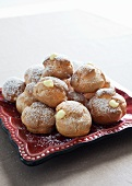 Cream Puffs on a Square Plate
