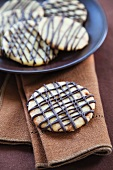 Chocolate Drizzled Toffee Cookies