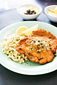 Breaded Pork Cutlet with Capers