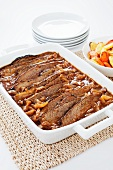 Onion Braised Beef Brisket in a Baking Dish