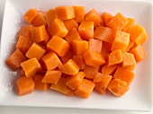 Thawed Frozen Carrot Cubes