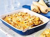 Potato bake with parsnips