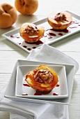 Pesche al forno (oven-baked peaches, Italy)