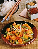 Sajoer kerrie (Indonesian vegetable curry)