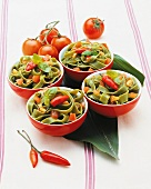 Tagliatelle aglio, olio e peperoncino (spicy pasta dish)