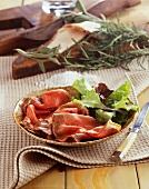 Roast beef with lardo di colonnata