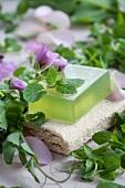 Homemade mint soap