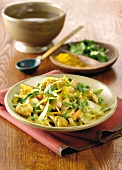 Vegetable curry with coriander