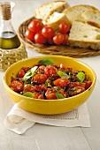 Pomodori al basilico (sautéed tomatoes with basil)