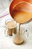 Barbajada (hot chocolate with coffee and milk, Italy)