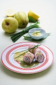 Turkey roulade with apple sauce