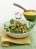 Stir-fried vegetables with sweetcorn and herbs