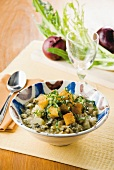 Macco (fava beans with fennel, onions and croutons, Italy)
