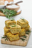 Farinata (chickpea cakes, Italy) with rosemary