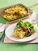 Frittata with courgette and ham