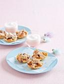 Mini bread puddings to celebrate Easter